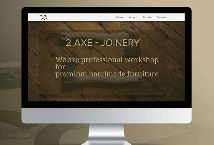 Website design for 2axe.ru